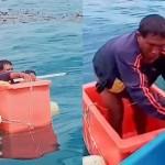 Ψαράς σώθηκε μετά από τρεις μέρες στη θάλασσα μέσα σε ψυγείο!
